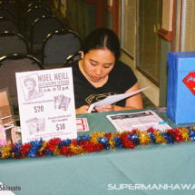 The welcome booth at the 2005 SupermanHawaii.com event.