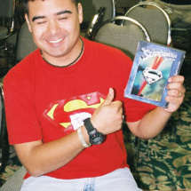 A Superman: The Movie DVD goes to Tim Warren.