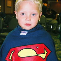 James Winfield and his brand new Superman T-shirt.