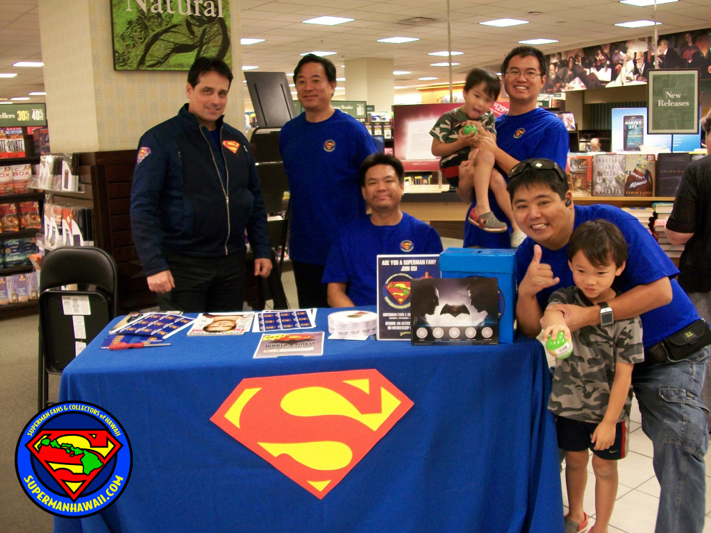 Some of the members of Superman Fans & Collectors of Hawaii.